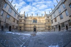 Bodleian library in Oxford in the morning, UK. Bodleian library in Oxford in the morning, United kingdom Royalty Free Stock Photography