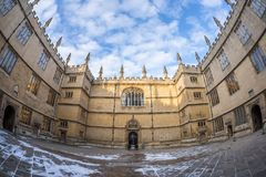 Bodleian library in Oxford in the morning, UK. Bodleian library in Oxford in the morning, United kingdom Stock Photo