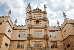 Bodleian library in Oxford. View of facade Royalty Free Stock Image