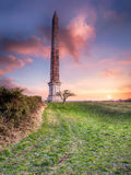Bodmin Beacon. The Bodmin Beacon a 144 foot tall obelisk overlooking the town of Bodmin in Cornwall Royalty Free Stock Images