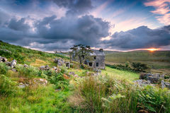 Bodmin Moor. Ancient abandoned farm house on Bodmin Moor in Cornwall Royalty Free Stock Images