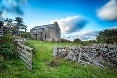 Bodmin Moor in Cornwall. Old abandoned cottage on Bodmin Moor in Cornwall Royalty Free Stock Photo