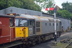 Class 33 diesel at Bodmin and Wenford Railway Cornwall. The Bodmin & Wenford Railway, BWR, is a heritage railway, based at Bodmin in Cornwall, England. Grey and stock image