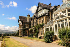 Bodnant庭院在威尔士 图库摄影