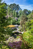 Bodnant Garden, The Old Mill Stock Image