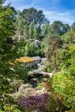 Bodnant-Garten, die alte Mühle Stockbild