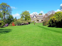 Bodnant Hall, Colwyn bay, Wales. stock photo