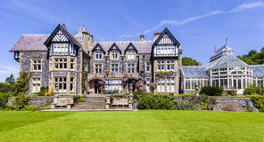 Bodnant hall. Victorian house set in a beautiful garden Stock Images