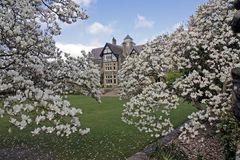 Bodnant House in Spring Stock Photography