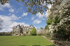 Bodnant House in Spring Royalty Free Stock Photo