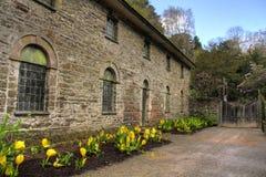 Bodnant House in Spring Stock Photo