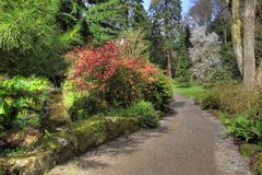 Bodnant House in Spring Royalty Free Stock Photography