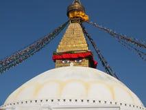 Bodnath,尼泊尔Stupa  免版税库存图片