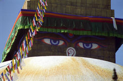 bodnath μάτια Νεπάλ s του Βούδα Στοκ φωτογραφία με δικαίωμα ελεύθερης χρήσης