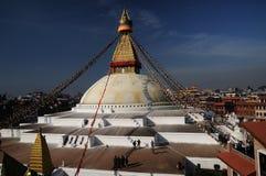 Bodnath Stupa加德满都 免版税库存照片