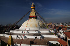 Bodnath Stupa Katmandou Photos libres de droits