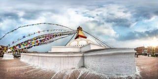 Bodnath stupa panorama Stock Image