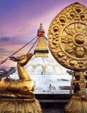 Bodnathstupa in Katmandu Stock Foto