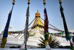 Bodnathstupa in Katmandu Stock Fotografie