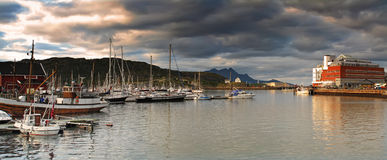 Bodo harbor - north of the polar circle Stock Photo
