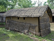 Bodo Kachari's house. Dwelling style of Tribal, Bodo Kachari's house displayed in a museum, Madhya pradesh, India Stock Image