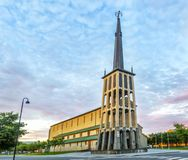 Bodo katedra w Nordland okręgu administracyjnym, Norwegia Zdjęcie Royalty Free