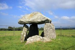 Bodowyr. Neolithic Ancient Monuments of Angelsey North Wales Royalty Free Stock Photography