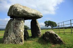 Bodowyr. Neolithic Ancient Monuments of Angelsey North Wales Stock Photo