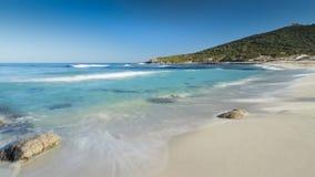 Bodri beach near Ile Rousse in Corsica Royalty Free Stock Image