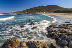 Bodri beach near Ile Rousse in Corsica Stock Photo