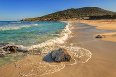 Bodri beach near Ile Rousse in Corsica Stock Photos