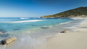 Bodri-Strand nahe Ile Rousse in Korsika Lizenzfreies Stockbild