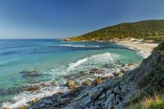 Bodri-Strand nahe Ile Rousse in Korsika Stockfotografie