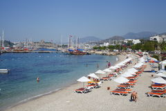 Bodrum é um distrito e uma cidade de porto na província Turquia de MuÄŸla fotografia de stock