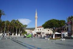 Bodrum é um distrito e uma cidade de porto na província Turquia de MuÄŸla fotografia de stock royalty free