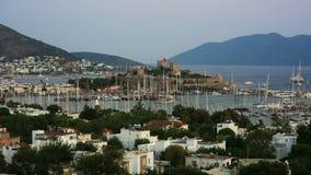 Bodrum, beroemde vakantiebestemming in Turkije, timelapse, HD stock video