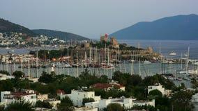 Bodrum, beroemde vakantiebestemming in Turkije, timelapse, HD stock videobeelden