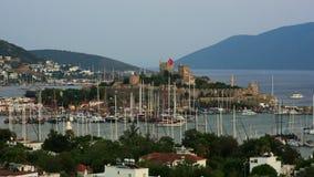 Bodrum, beroemde vakantiebestemming in Turkije, timelapse, 4K stock footage