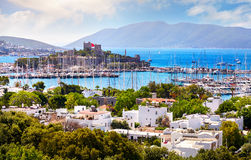 Bodrum castle and Aegean Sea Stock Photography