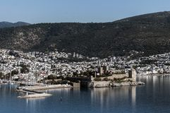 Bodrum castle and city in Turkey Royalty Free Stock Image