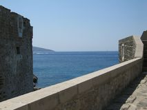Bodrum city from Saint Peters fortress in Turkey Stock Photography