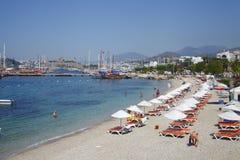 Bodrum is een district en een havenstad in MuÄŸla-Provincie Turkije stock fotografie