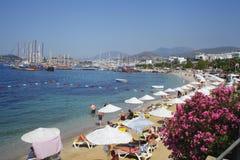 Bodrum is een district en een havenstad in MuÄŸla-Provincie Turkije stock foto