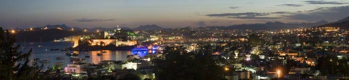 Bodrum en la noche Foto de archivo