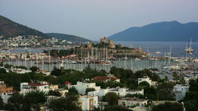 Bodrum, famous holiday destination in turkey, timelapse, HD stock video
