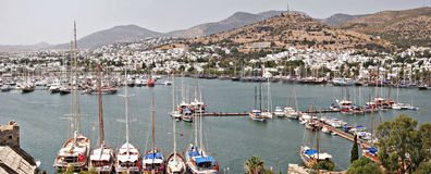Bodrum Harbor, view from the castle Royalty Free Stock Images