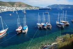Bodrum harbour Royalty Free Stock Images