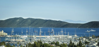 Bodrum Harbour and yachts Stock Photo