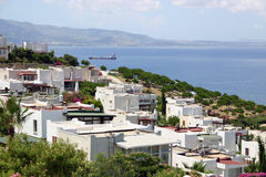 Bodrum holiday view beach sea green water blue Stock Photo