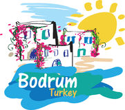 Bodrum Illustration Stock Photo